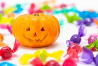 かぼちゃとハロウィンキャンディー