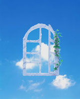 窓と空 10179000207| 写真素材・ストックフォト・画像・イラスト素材|アマナイメージズ