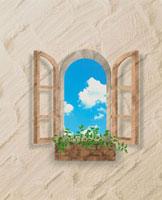 窓と空 10179000213| 写真素材・ストックフォト・画像・イラスト素材|アマナイメージズ