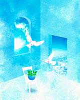 窓イメージ  CG 10179003784| 写真素材・ストックフォト・画像・イラスト素材|アマナイメージズ