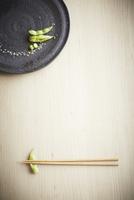 枝豆の八寸と箸