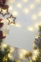 クリスマスデコレーションとカード