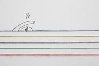 五色の水引と泳いでいる人のイラスト 10179009757| 写真素材・ストックフォト・画像・イラスト素材|アマナイメージズ
