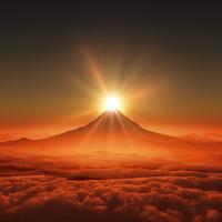 富士山の日の出 10185001927| 写真素材・ストックフォト・画像・イラスト素材|アマナイメージズ