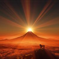 富士山と猿 10185002005| 写真素材・ストックフォト・画像・イラスト素材|アマナイメージズ