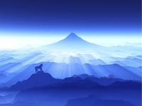 富士山と猿 10185002009| 写真素材・ストックフォト・画像・イラスト素材|アマナイメージズ