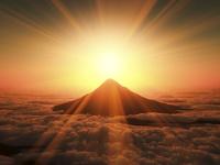 富士山の日の出 10185002267  写真素材・ストックフォト・画像・イラスト素材 アマナイメージズ