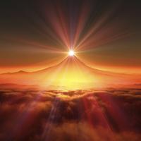 富士山の日の出 10185002271  写真素材・ストックフォト・画像・イラスト素材 アマナイメージズ