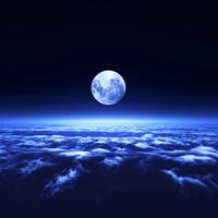 夜空と雲海 10185002279  写真素材・ストックフォト・画像・イラスト素材 アマナイメージズ