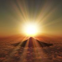 富士山の日の出 10185002288  写真素材・ストックフォト・画像・イラスト素材 アマナイメージズ