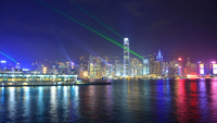 香港の夜景とシンフォニーオブライツ 10193002391| 写真素材・ストックフォト・画像・イラスト素材|アマナイメージズ