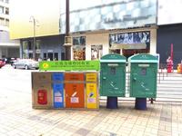 香港のポストとゴミ箱