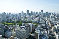 本町ビル群と大阪市街(梅田方面)