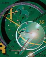 数字や円形やグラフ(緑色)  CG