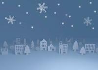 雪降る街並
