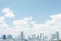 東京タワーと都心のビル群 10199000152| 写真素材・ストックフォト・画像・イラスト素材|アマナイメージズ
