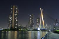 中央大橋とタワーマンションの夜景