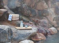 露天風呂の温泉イメージ