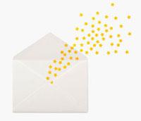 封筒の中から出る星