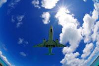 ジェット機と太陽 下地島