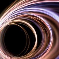 曲線の光の背景