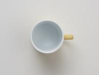 白い背景のコーヒーカップ