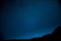 車山と星空