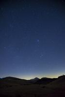 霧ヶ峰高原踊り場湿原と深夜の星空