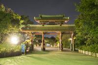 守礼門ライトアップ 10222008491| 写真素材・ストックフォト・画像・イラスト素材|アマナイメージズ