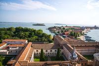 ヴェネツィア サン・ジョルジョ・マッジョーレ教会の鐘楼からの眺め 10222008865| 写真素材・ストックフォト・画像・イラスト素材|アマナイメージズ