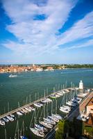 ヴェネツィア サン・ジョルジョ・マッジョーレ教会の鐘楼からの眺め 10222008881| 写真素材・ストックフォト・画像・イラスト素材|アマナイメージズ