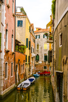 ヴェネツィア運河と街並み 10222008894| 写真素材・ストックフォト・画像・イラスト素材|アマナイメージズ
