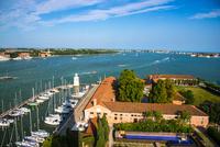 ヴェネツィア サン・ジョルジョ・マッジョーレ教会の鐘楼からの眺め 10222009010| 写真素材・ストックフォト・画像・イラスト素材|アマナイメージズ