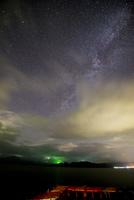 十和田湖と夏の星空