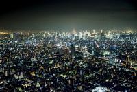 東京スカイツリー天望デッキより東京都心夜景 10222011917| 写真素材・ストックフォト・画像・イラスト素材|アマナイメージズ
