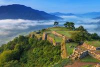朝の竹田城跡と雲海