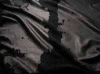 黒いレザー生地