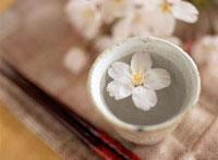 桜を浮かべたお猪口の日本酒 10231000671| 写真素材・ストックフォト・画像・イラスト素材|アマナイメージズ