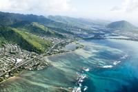 オアフ島ハワイカイの空撮