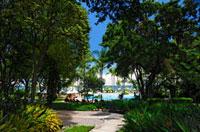 リゾートホテルのビーチ
