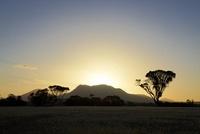 日没のスターリング山脈国立公園