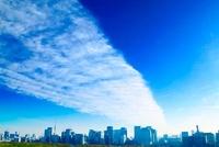 丸の内の高層ビル群と雲 10247002009| 写真素材・ストックフォト・画像・イラスト素材|アマナイメージズ