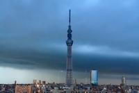 東京スカイツリーと雷 10247002023| 写真素材・ストックフォト・画像・イラスト素材|アマナイメージズ