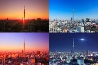 東京スカイツリーの朝昼夕夜 10247003306| 写真素材・ストックフォト・画像・イラスト素材|アマナイメージズ