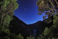 千尋滝と星空と流星