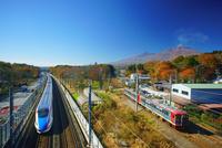北陸新幹線としなの鉄道と浅間山