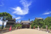 上田城と雲