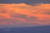 夕焼けの富士山遠望