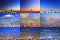 東京スカイツリーの一日 10247018612| 写真素材・ストックフォト・画像・イラスト素材|アマナイメージズ