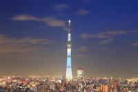東京スカイツリーのライトアップ 10247018615| 写真素材・ストックフォト・画像・イラスト素材|アマナイメージズ